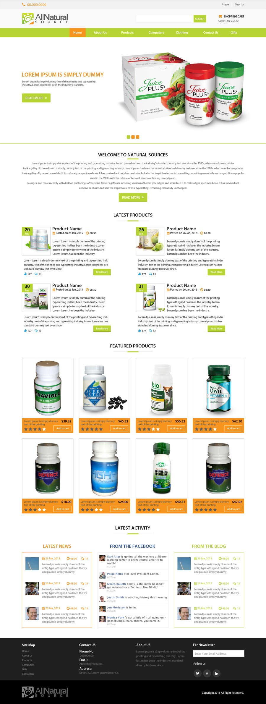 Contest Entry #                                        17                                      for                                         Design a Website Mockup for Natural Products E-Commerce Site