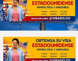 #254 untuk Billboards for USA Travel Visa Business oleh Julfikarsohan
