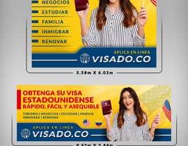 #86 untuk Billboards for USA Travel Visa Business oleh SAKTI2