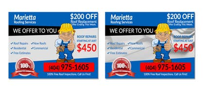 #6 for Design a Banner for Marietta Roofing Services af goranjokanovic