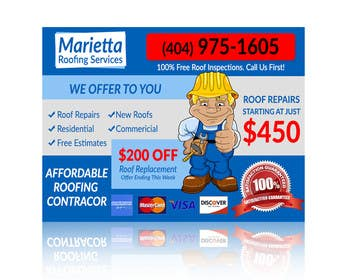 #7 for Design a Banner for Marietta Roofing Services af goranjokanovic