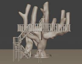 #58 para Design a treehouse on top of a tree that was trimmed and cut por Saji3d