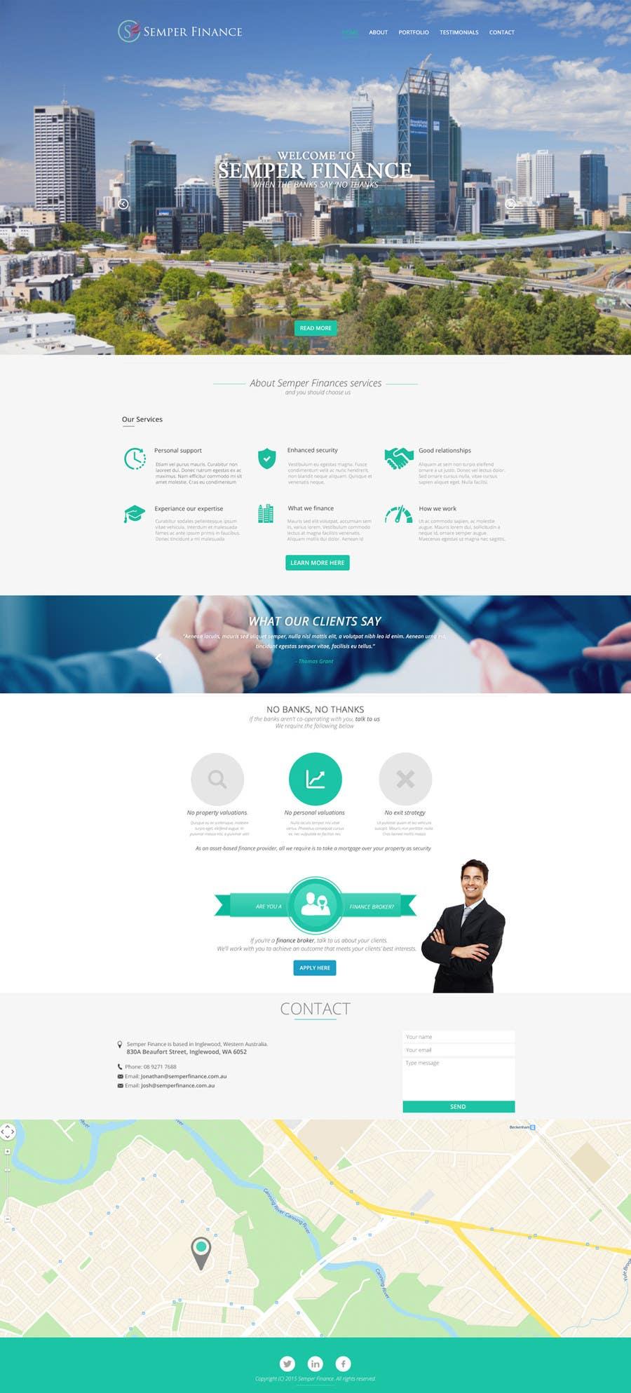 Konkurrenceindlæg #19 for Design a Website Mockup for a finance company