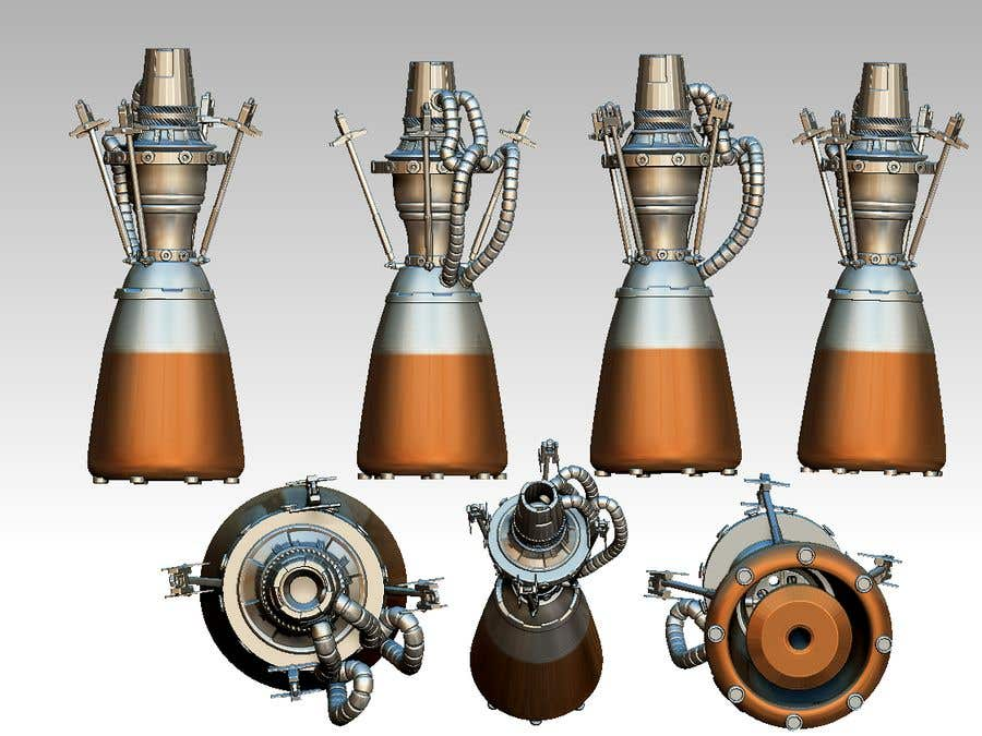 Konkurrenceindlæg #                                        11                                      for                                         Illustration of an Future product - Rocket Engine Prototype Simulation for pitch deck
