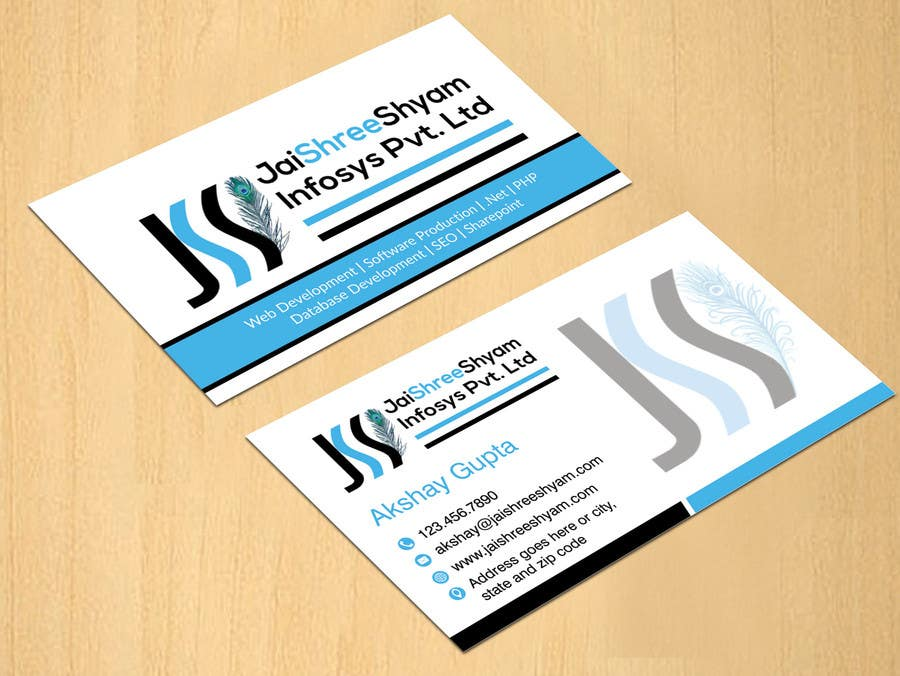Konkurrenceindlæg #                                        7                                      for                                         Design some Business Cards for My Business