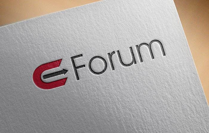 Penyertaan Peraduan #130 untuk eForum logo