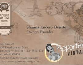 #40 untuk Design Business Cards and Advertisement for Reporters Vintage oleh talatart