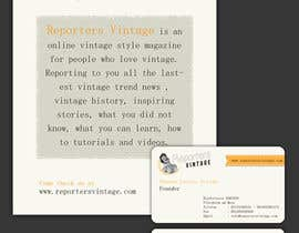 #35 untuk Design Business Cards and Advertisement for Reporters Vintage oleh mjuliakbar