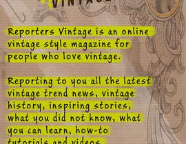#33 untuk Design Business Cards and Advertisement for Reporters Vintage oleh confrosh