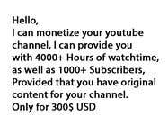 Facebook Marketing Contest Entry #6 for I want to purchase monetized youtube channel