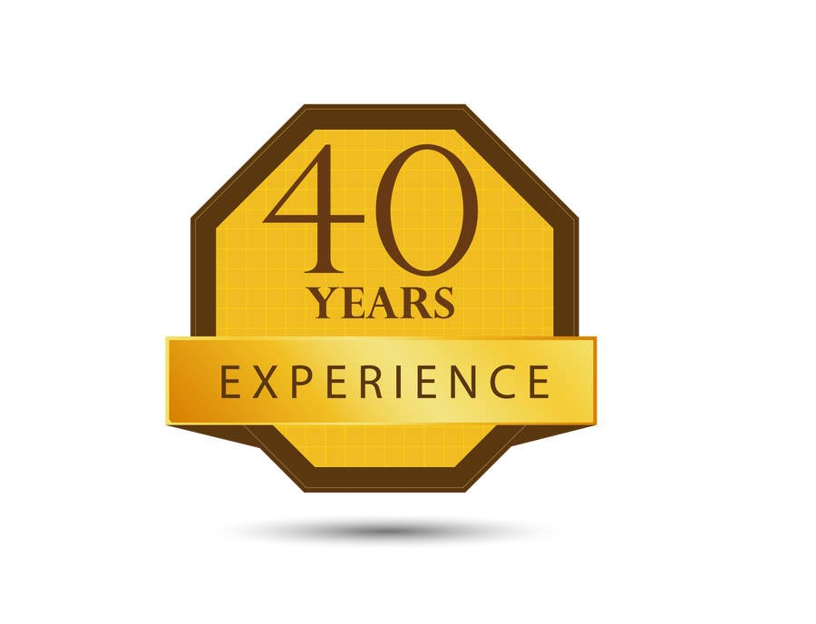 """Konkurrenceindlæg #34 for Design a Logo for """"40 Years Experience"""""""