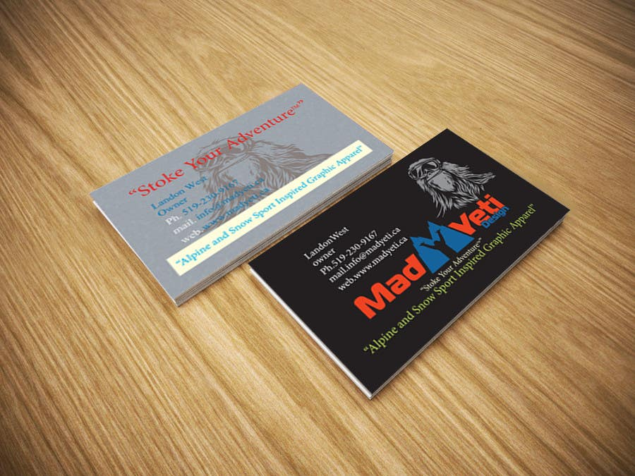 Entry 81 By Rayhanarafath For Design Some Business Cards For Mad Yeti Design Freelancer