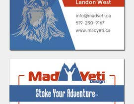 #106 for Design some Business Cards for Mad Yeti Design by AlexMykhno