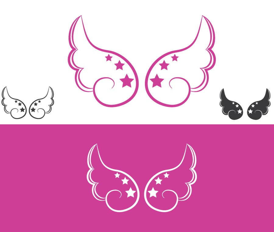 Bài tham dự cuộc thi #43 cho Design a pair of angel wings for baby clothing