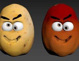 Nro 8 kilpailuun Two 2D potatoes with faces for use in a mobile UNITY game. Export through BLENDER. käyttäjältä abdomostafa2008