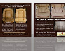 Nro 4 kilpailuun Design a Flyer for Car Interior Leather Restoration and Fabric Cleaning käyttäjältä binoy263