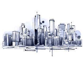 #14 for Design a hand drawn abstract skyline on white background af Dezign365web