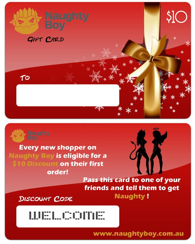 Konkurrenceindlæg #8 for Design a $10 Gift Card for an Adult Store