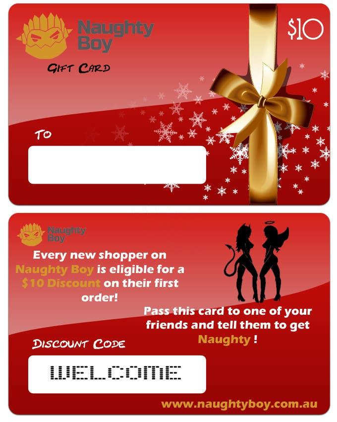Bài tham dự cuộc thi #8 cho Design a $10 Gift Card for an Adult Store