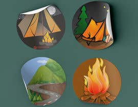 #13 for Camping Stickers by Dhibou