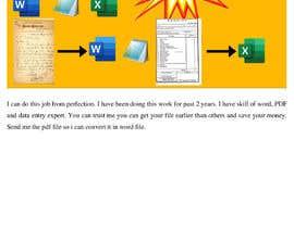 Nro 67 kilpailuun Retype, PDF into Word käyttäjältä toptech2008