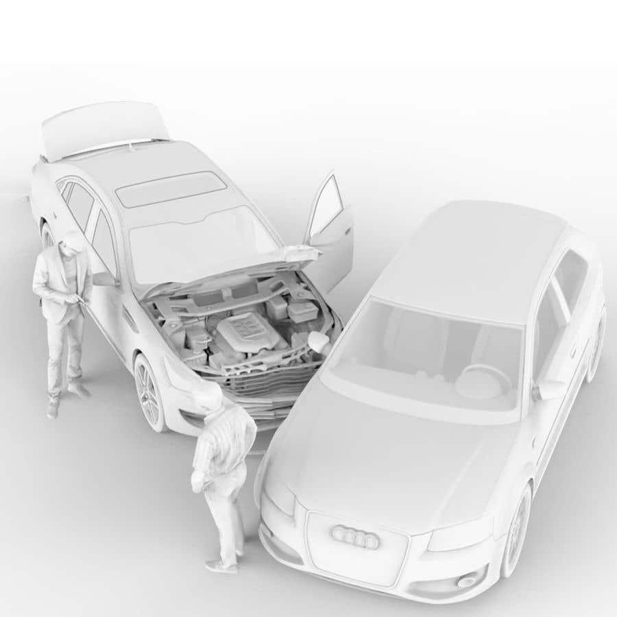 Proposition n°                                        43                                      du concours                                         3d white auto body damage