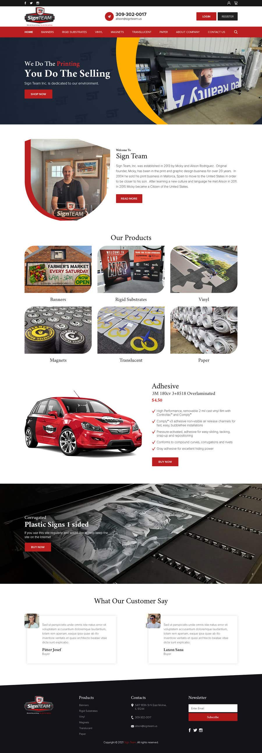 Konkurrenceindlæg #                                        21                                      for                                         Redesign front home page and product page