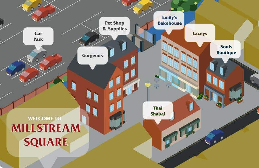 Kilpailutyö #                                        9                                      kilpailussa                                         Design a cartoon drawing of a map