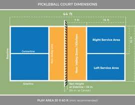 Nro 1 kilpailuun Pickleball court indoor environment mock-up käyttäjältä sudip20simkhada