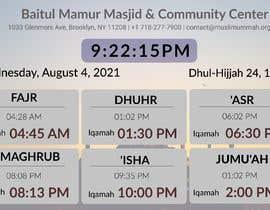 Číslo 27 pro uživatele Design a digital notice board for displaying in Mosque od uživatele amozahid1030