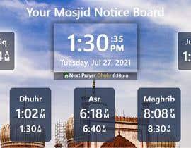 Číslo 20 pro uživatele Design a digital notice board for displaying in Mosque od uživatele surat6