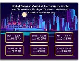 Číslo 24 pro uživatele Design a digital notice board for displaying in Mosque od uživatele DesignerAoul