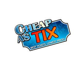#109 untuk Logo Design for Cheap As TIX oleh canilho
