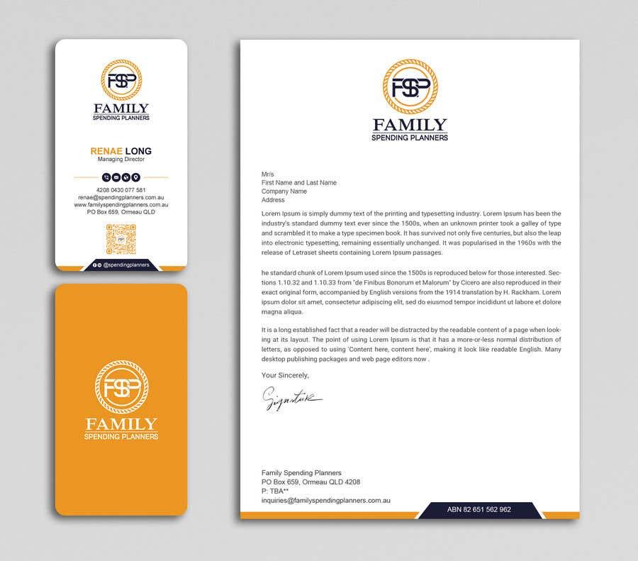 Proposition n°                                        192                                      du concours                                         Business card & letterhead - simple financial business