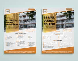 #27 untuk Flyer design for Degree college  and PU College, Admission Open announcement . Data mentioned Below. Use extra oleh mimoalamin