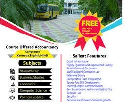 #35 untuk Flyer design for Degree college  and PU College, Admission Open announcement . Data mentioned Below. Use extra oleh Eliassarkar3466
