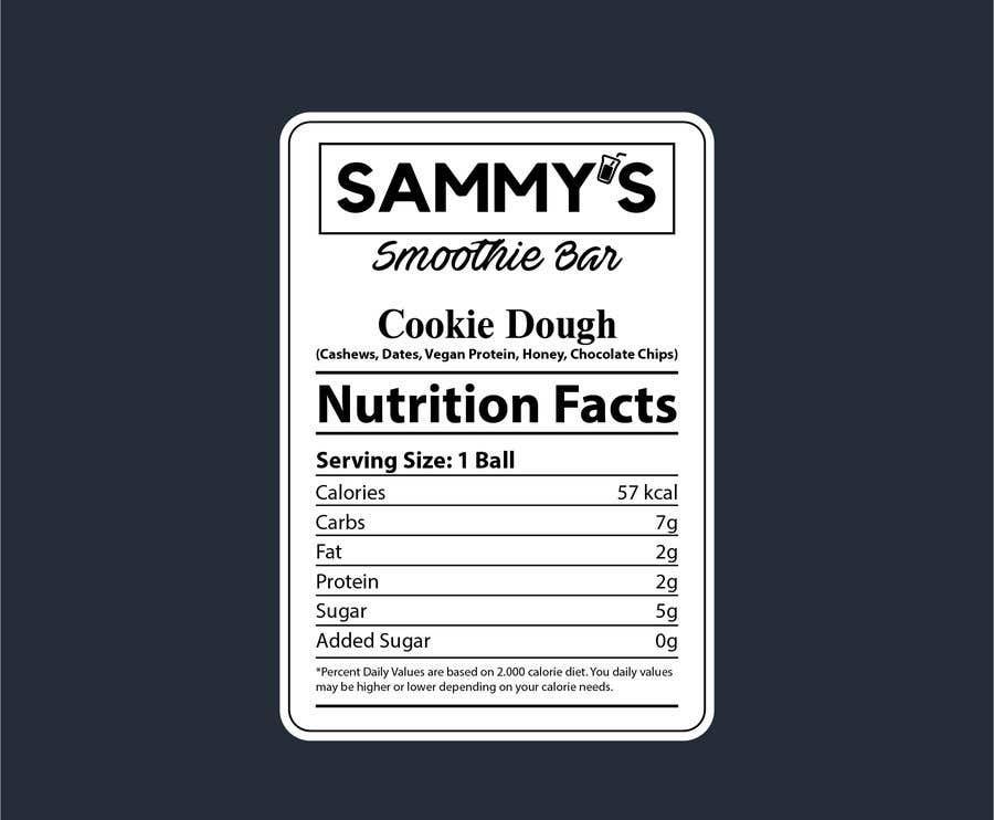 Конкурсная заявка №                                        54                                      для                                         Create a nutrition label