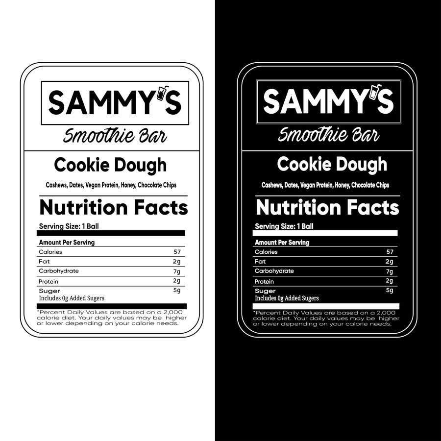 Konkurrenceindlæg #                                        62                                      for                                         Create a nutrition label