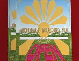 #54 untuk Create a Poster for my design concept - open for business - Anchorage Welcomes You oleh fatehabinta