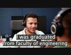 Nro 9 kilpailuun Edit a video interview käyttäjältä abdulrahmaneldaw