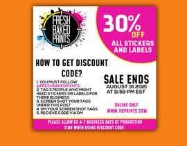 Nro 148 kilpailuun Social Media Sticker Discount Flyer -Gene käyttäjältä xussainrazaq333