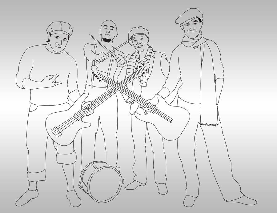 Contest Entry #                                        8                                      for                                         A simple illustration of a band