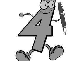 #36 for Caricature of the number '4' to illustrate a puzzle book af naeemarfankhan1