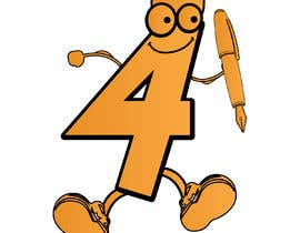 #37 for Caricature of the number '4' to illustrate a puzzle book af naeemarfankhan1