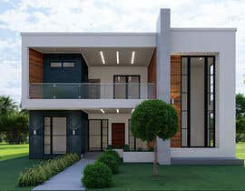 #30 for Design a minimalistic home exterior design as per the attached floor plan. af irmanws