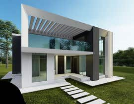 #18 for Design a minimalistic home exterior design as per the attached floor plan. af turkidsalotaibi
