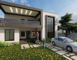#31 for Design a minimalistic home exterior design as per the attached floor plan. af ridwan091200