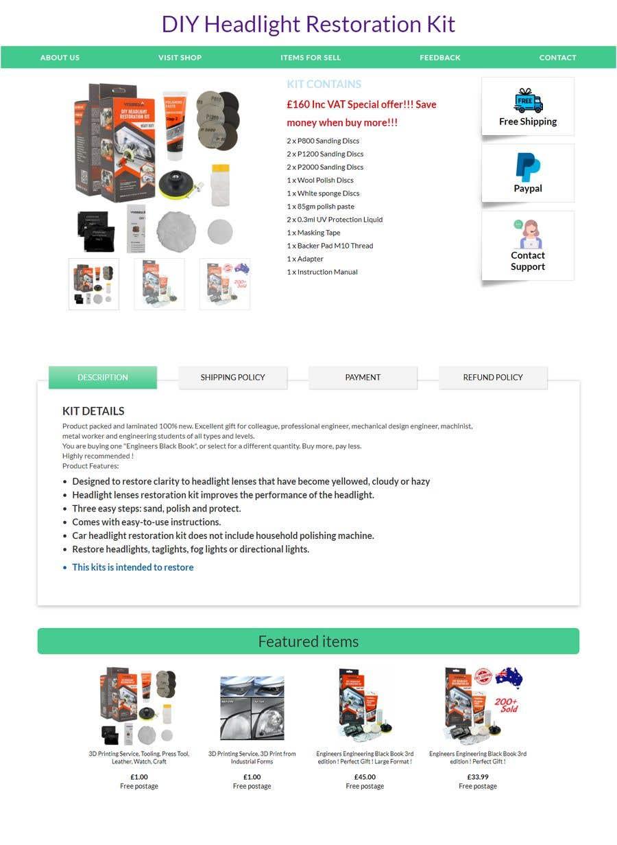 Proposition n°                                        5                                      du concours                                         Headlight Restoration kit