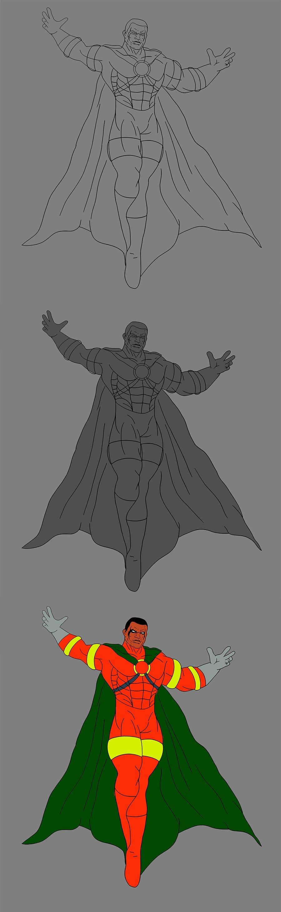 Konkurrenceindlæg #                                        20                                      for                                         Recreate 3 Superheroes - High Quality Photoshop or Illustrator Art