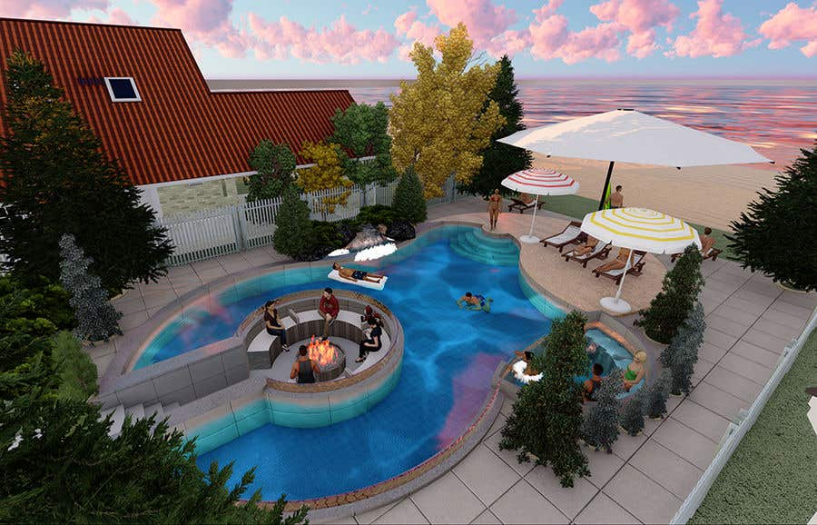 Proposition n°                                        31                                      du concours                                         Do 3d render for pool in sketchup, vray,  lumion or similar softwares.